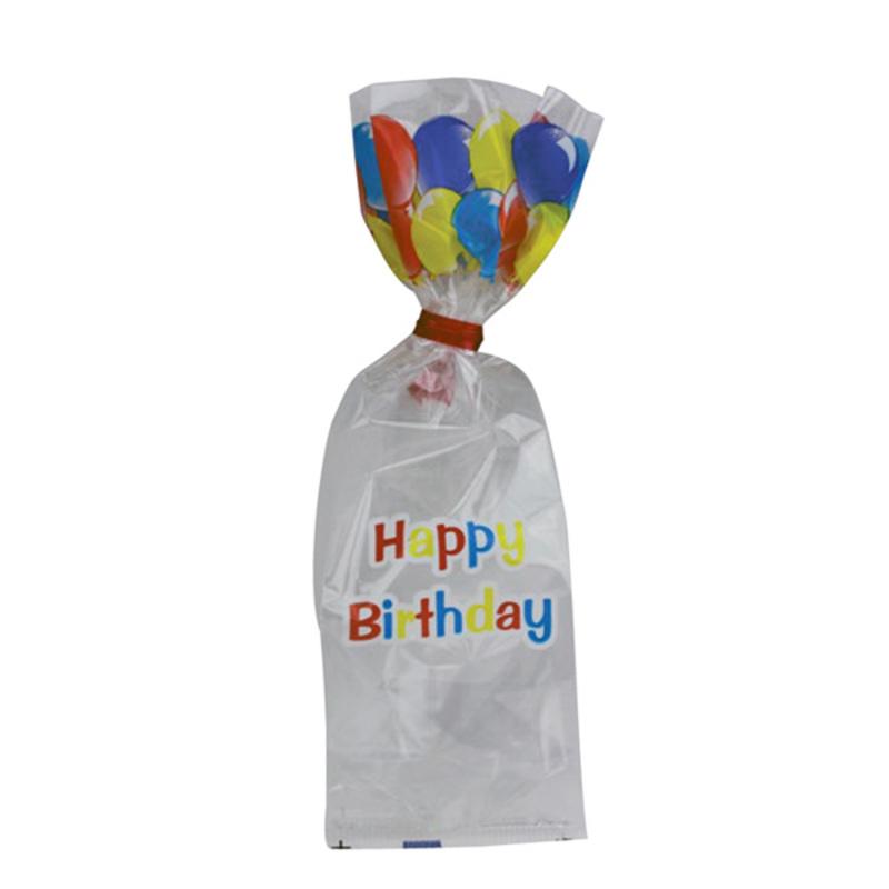 Sachets Happy Birthday fond plat + liens (x25)