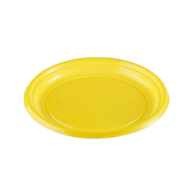Assiettes plastique jaunes (x50)