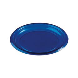 Assiettes plastique bleu marine (x50)