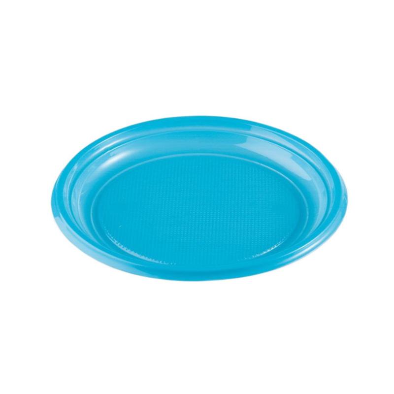 Assiettes plastique bleues (x50)