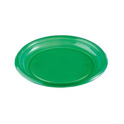 Assiettes plastique vertes (x50)