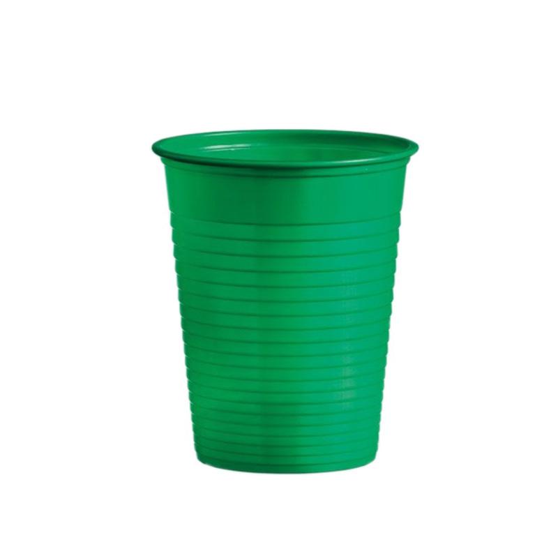 Gobelets plastique verts (x50)