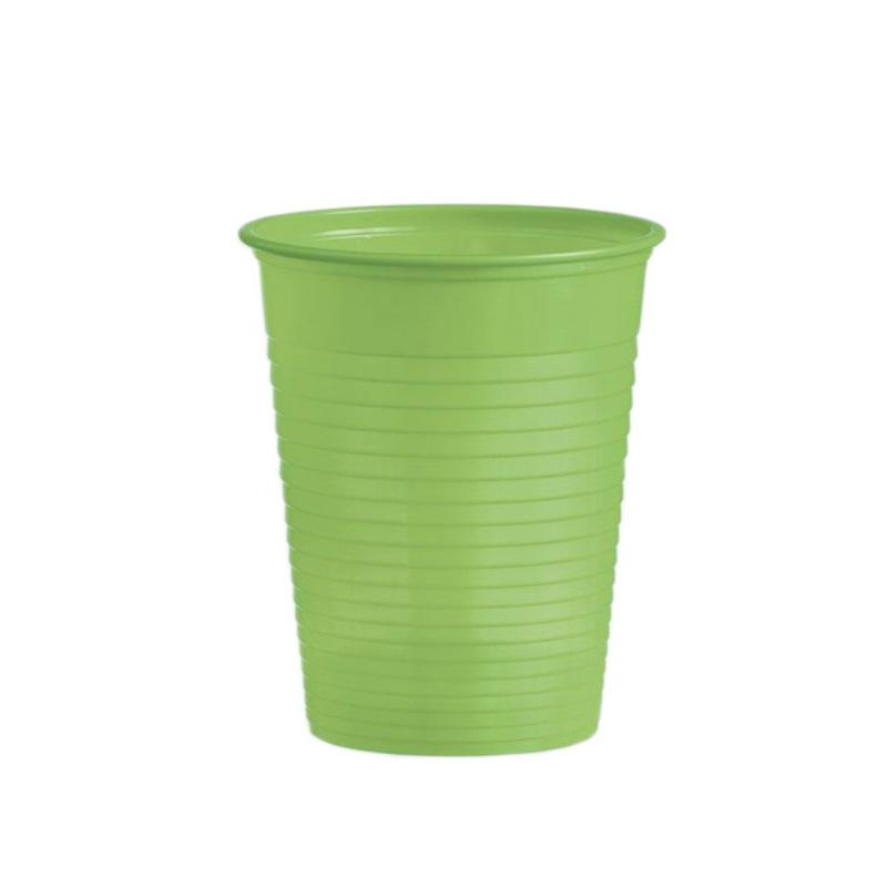 Gobelets plastique vert anis (x50)