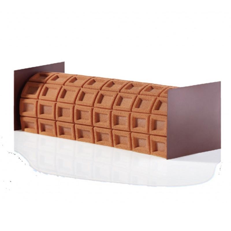 Tapis silicone texturé Chocolat