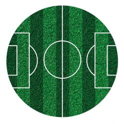 Disque en sucre terrain de football 16 cm
