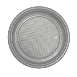 Assiettes plastique argentées (x50)