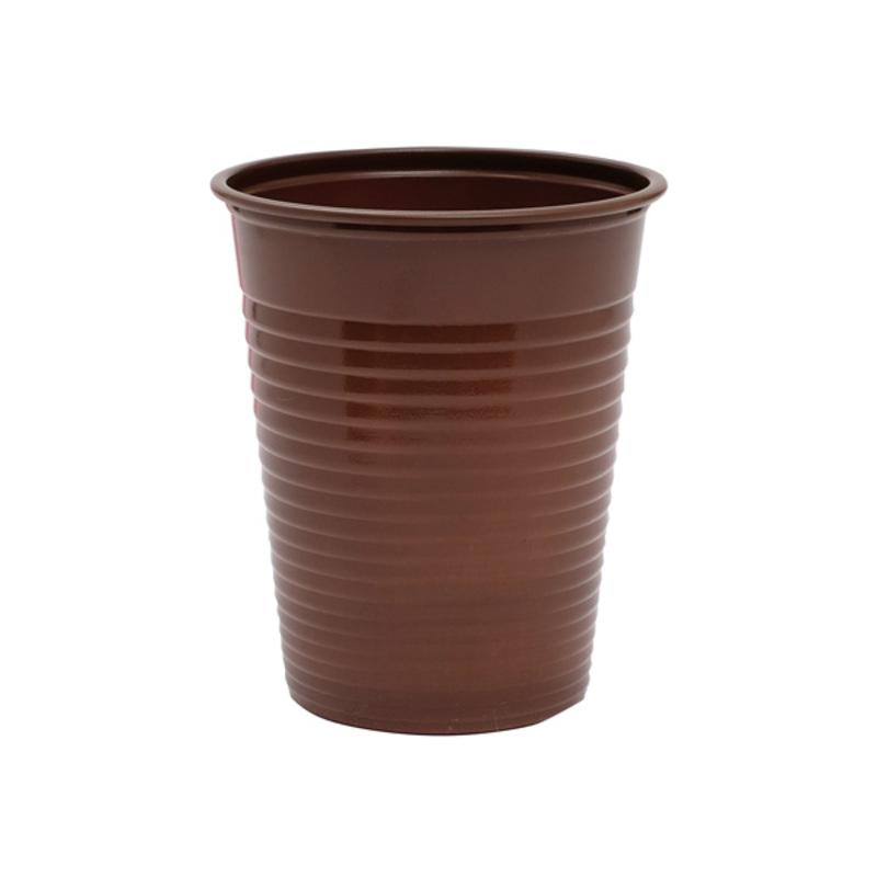 Gobelets plastique chocolat (x50)