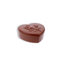 Moule bonbonnière en chocolat coeur