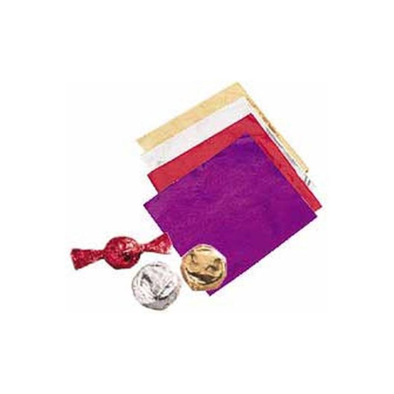 Papier emballage bonbon argenté Wilton (x50)