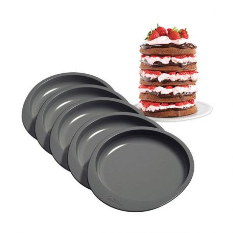 Moules layer cake Wilton (x5)