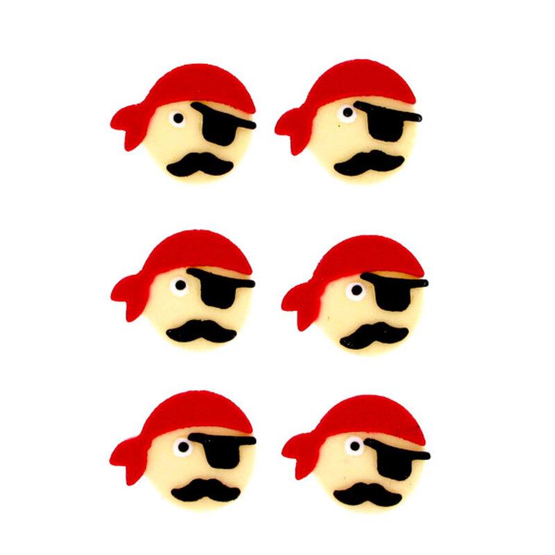 Décor Pirates en sucre (x6)