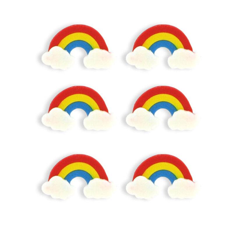 Décor Arc en ciel en sucre (x6)