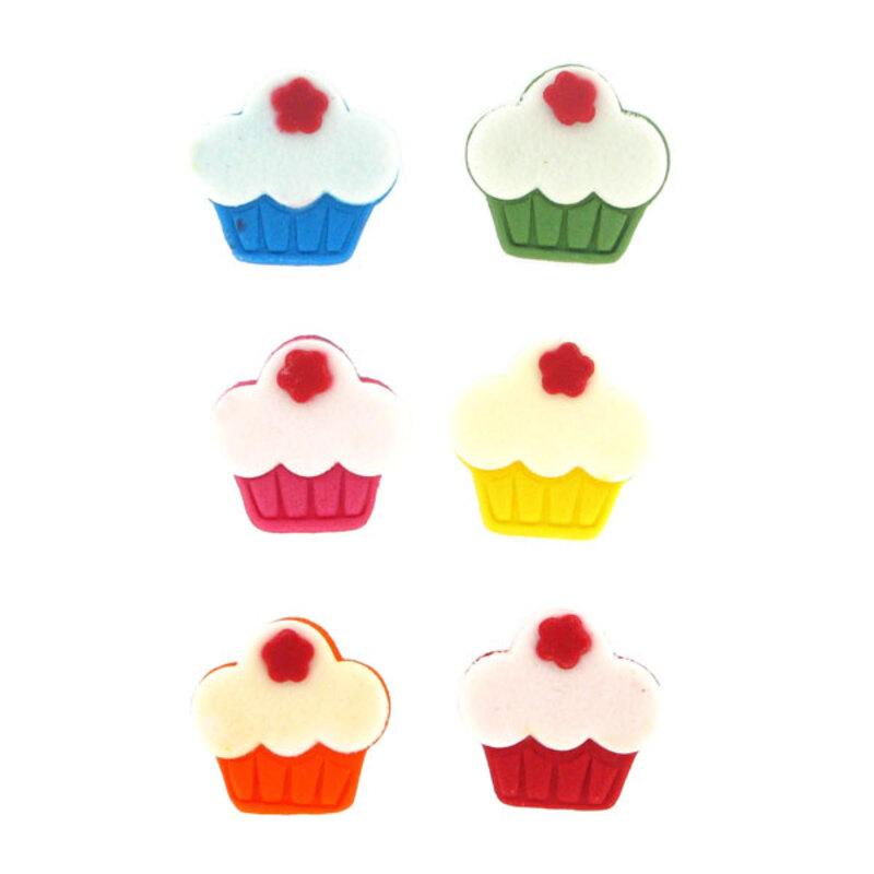 Décor Cupcakes mini en sucre (x6)