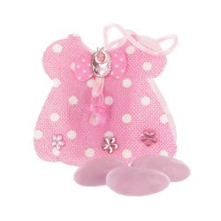 Contenant à dragées pyjama rose (x12)