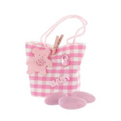 Contenant à dragées sac rose (x12)