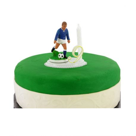 G teau anniversaire football bougie chiffres - Decoration gateau anniversaire football ...