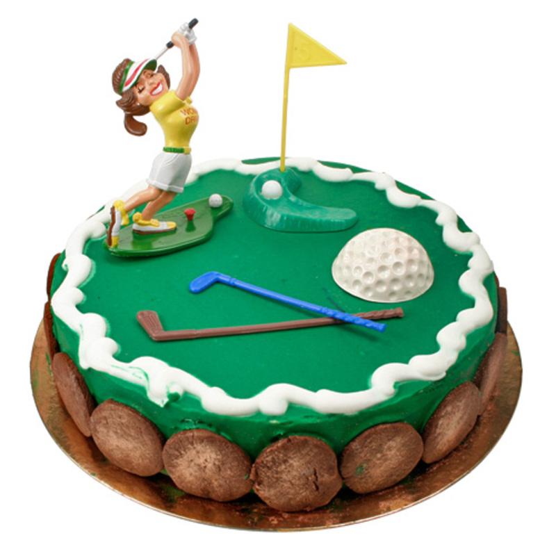 Kit Décor Gâteau Golfeuse humoristique