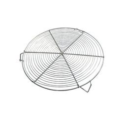 Grille à pâtisserie ronde nickelée avec pieds 28 cm