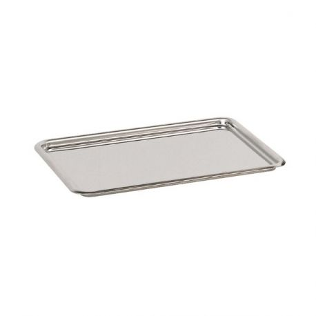 Plateau pâtissier inox bords ronds 24 cm
