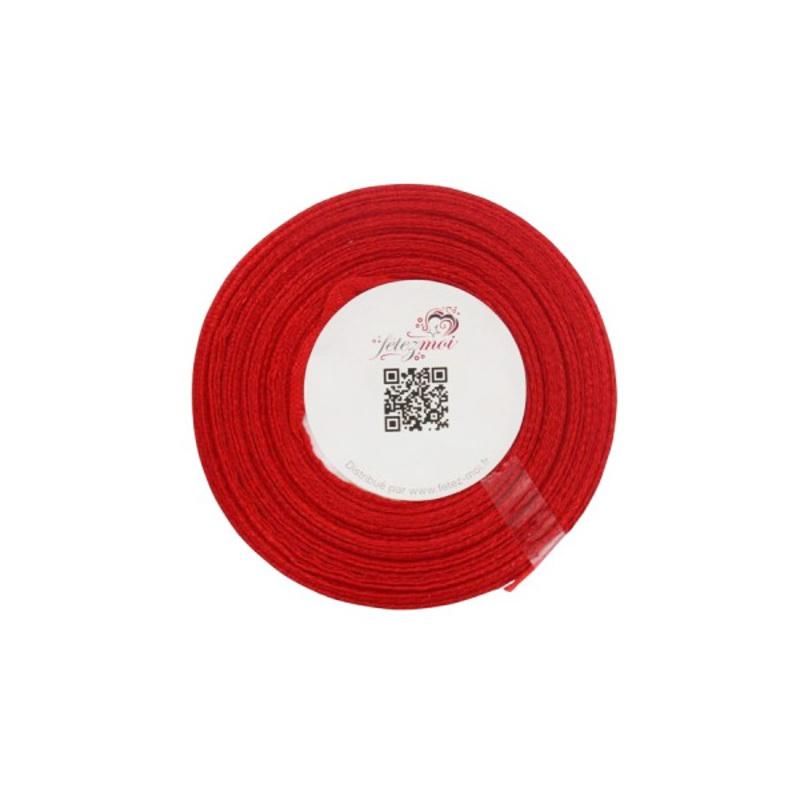Ruban satin rouge 6 mm (25 m)