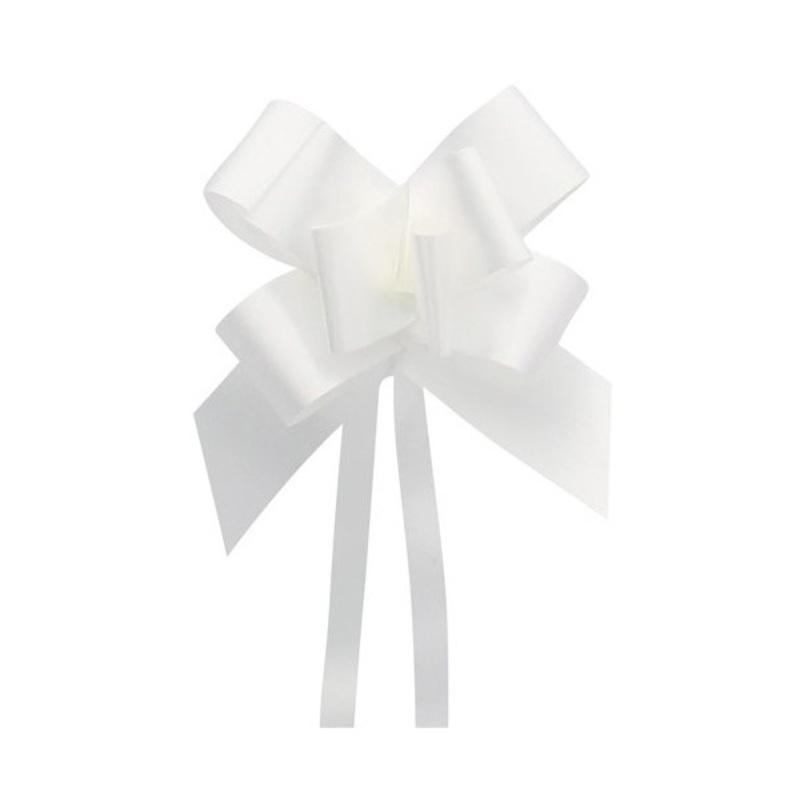 Mini noeud à tirer blanc (x20)