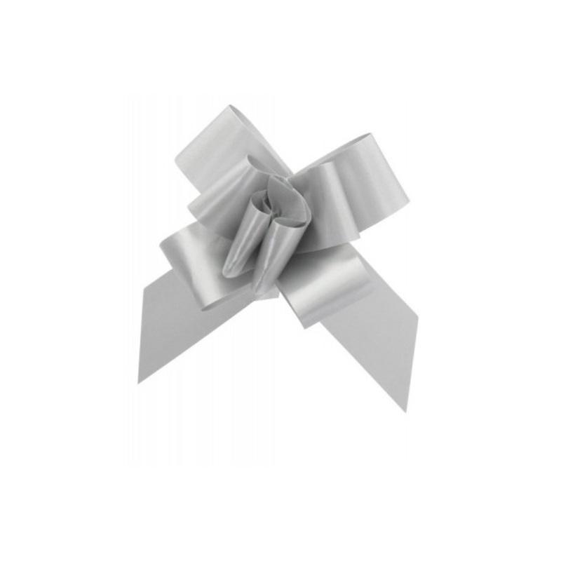 Mini noeud à tirer gris (x20)