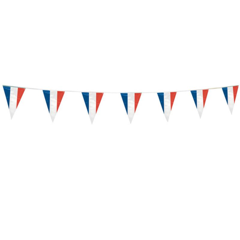 Guirlande avec fanions bleu blanc rouge