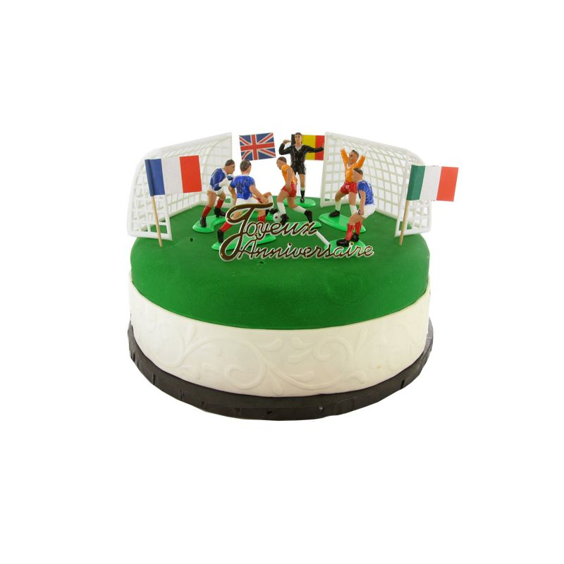 Kit decor gateau football euro decor patisserie cerf - Decoration football pour anniversaire ...