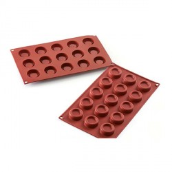 Moule silicone 15 mini desserts ronds