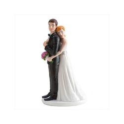 Couple de mariés accolade 16 cm