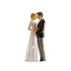 Couple de mariés tête à tête 16 cm