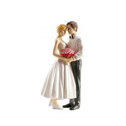 Couple de mariés bouquet 16 cm