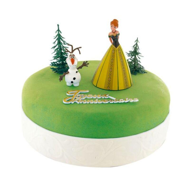 Kit Décor gâteau Princesse Anna