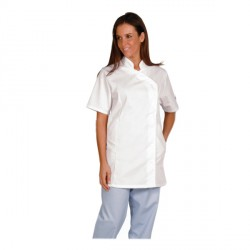 Veste Odile manches courtes blanche