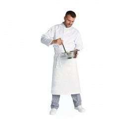 Tablier de chef blanc 100 x 80 cm