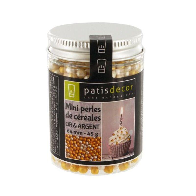 Mini perles de céréales or et argent 45 g