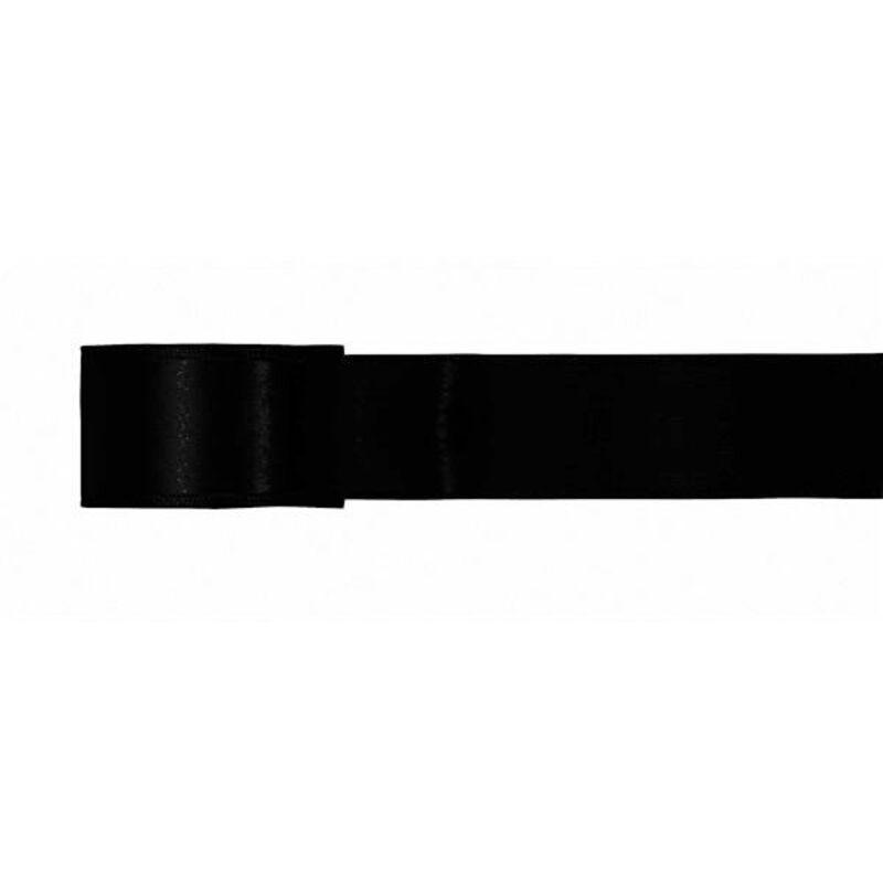 Ruban satin noir 25 mm (5 m)