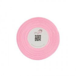 Ruban satin rose 6 mm (25 m)