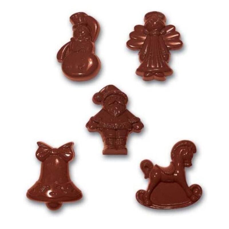 Moule chocolat sujets de Noël assortis