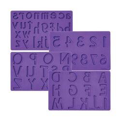 """Moule silicone """"chiffres et lettres"""" Wilton"""