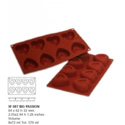Moule silicone 8 savarins coeurs