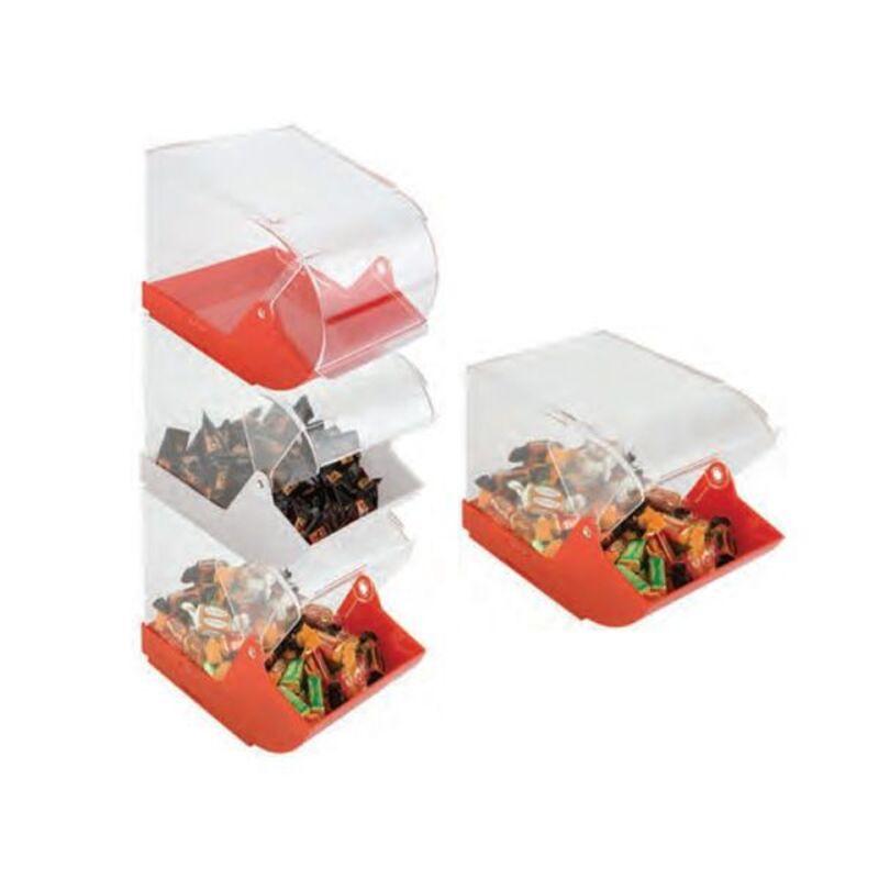Boîte distributrice de bonbons rouge