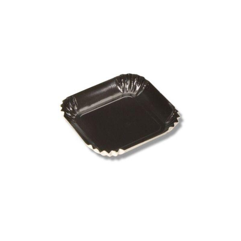 Mini assiette carton carrée noire 65 mm (x100)