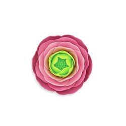 Renoncule rose pastillage Gatodéco