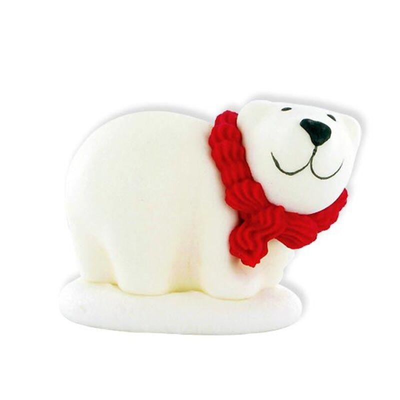 Décor sucre Ours polaire blanc