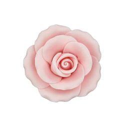 Rose rose en pastillage 9 cm Gatodéco