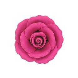 Fleur en sucre pastillage Rose fuchsia 9 cm Gatodéco