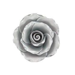 Rose en sucre pastillage couleur argent Gatodéco