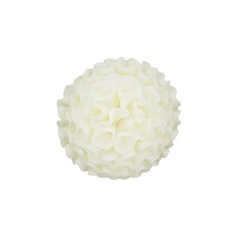 Oeillet blanc 7 cm en pastillage Gatodéco