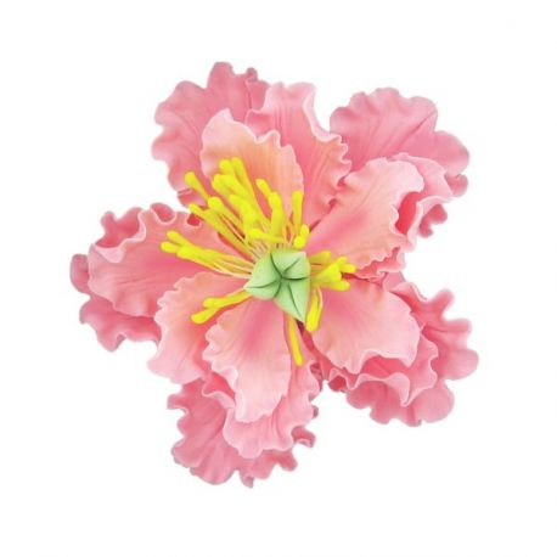 Pivoine rose pastillage Gatodéco